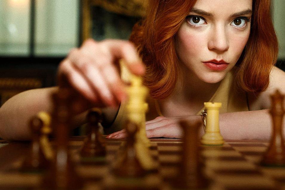 The Queen's Gambit il gioco degli scacchi